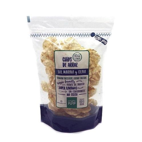 Natural Pop - Chips de Arroz - Sal Marina y Oliva