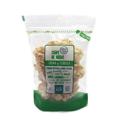 Natural Pop - Chips de Arroz - Crema y Cebolla