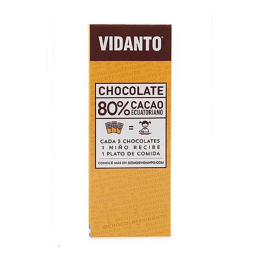 Vidanto - Chocolate Ecuatoriano - 80%Cacao