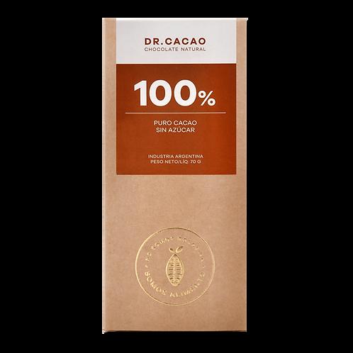 Dr. Cacao - Chocolate 100% - Sin Azúcar