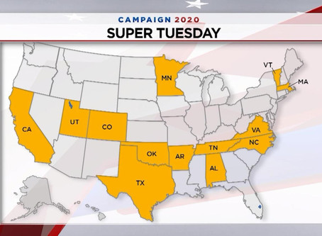 Super Tuesday March 3, 2020