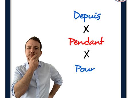 Francouzské předložky : depuis, pour nebo pendant?