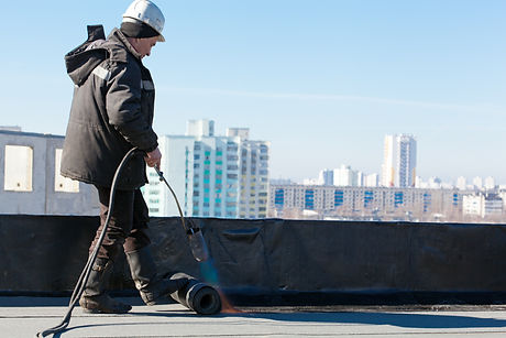 Roofer man worker at building site insta