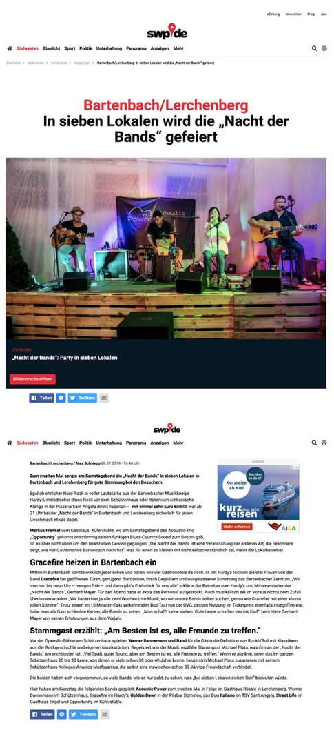SWP Online - Bartenbach Nacht der Bands