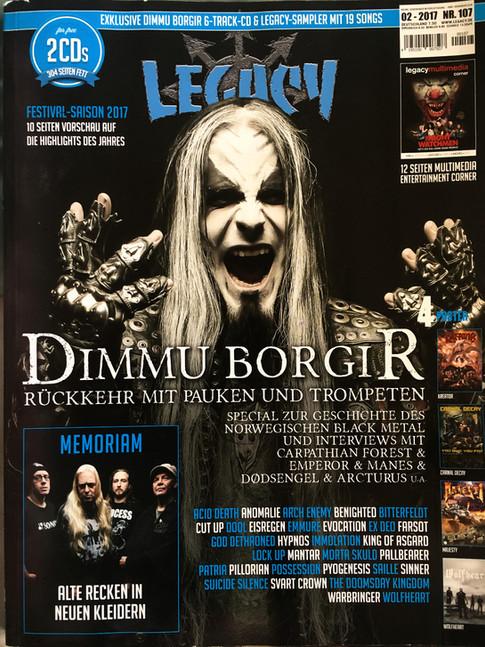 Legacy Magazine Cover #107