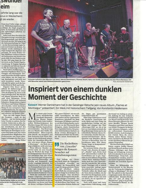 Gracefire - Geisslinger Zeitung