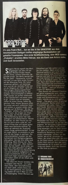 Gracefire - Legacy Magazine