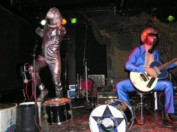 Performing on-stage with BOB LOG 111