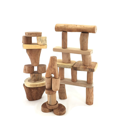 32 Piece Wooden Block Set