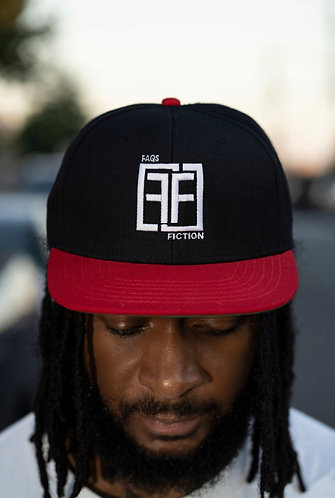 Double F White. Black and Red Snap Back