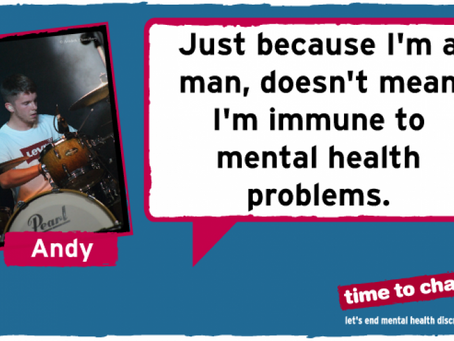 Men's mental health is as important as womens.