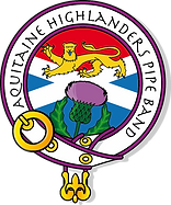 aquitaine highlanders pipe band - logo t