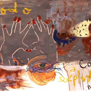 A4 2020 Acrílico y crayones sobre papel
