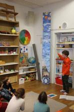 Vortrag eines Primaria-Schülers zu den Atmosphärenschichten