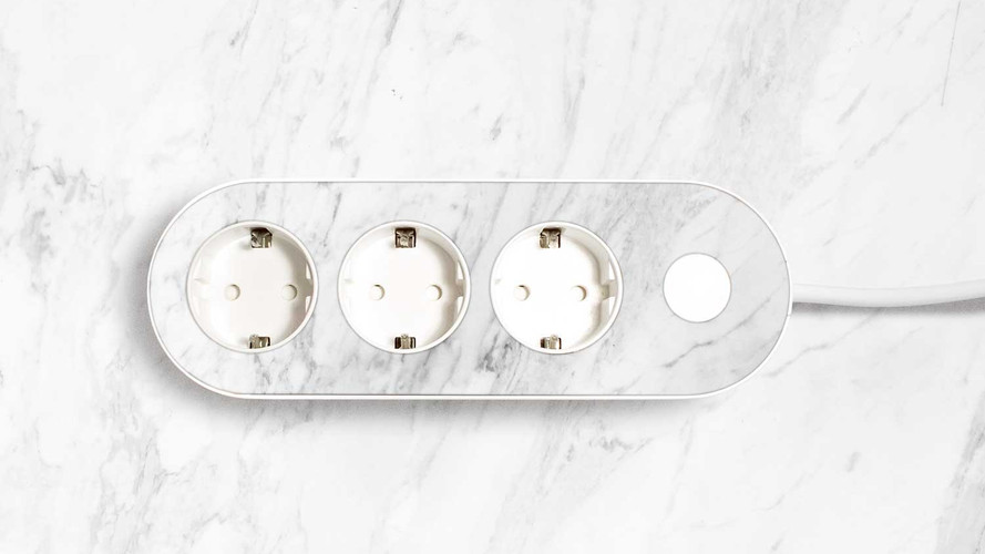 light nolla strip with marble top