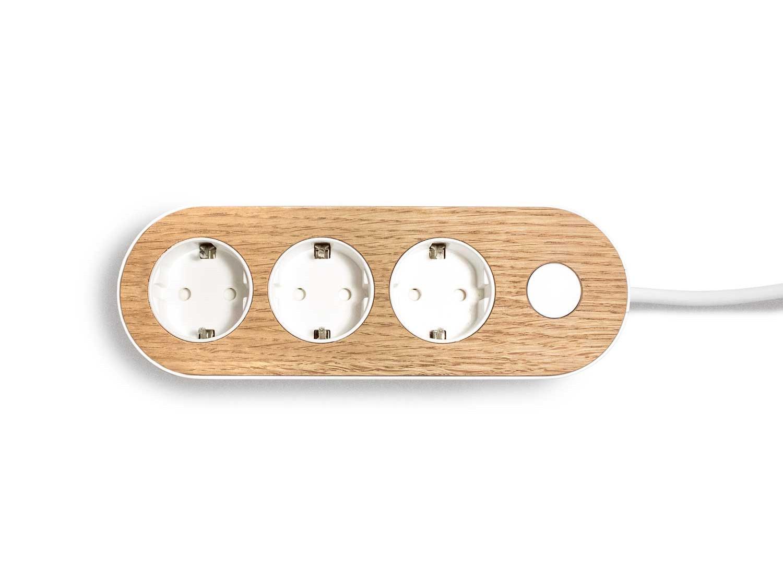 Light nolla strip with oak top