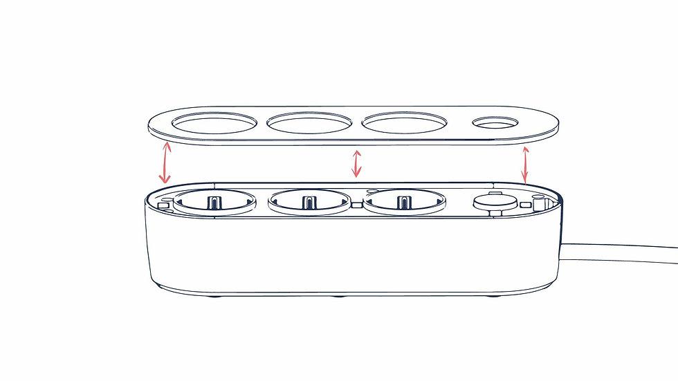 Magnetic top sheet - nolla design power strip