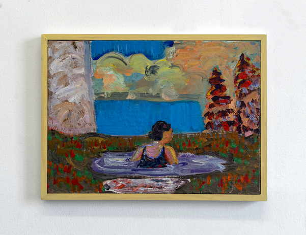 Woman bathing in a Sump