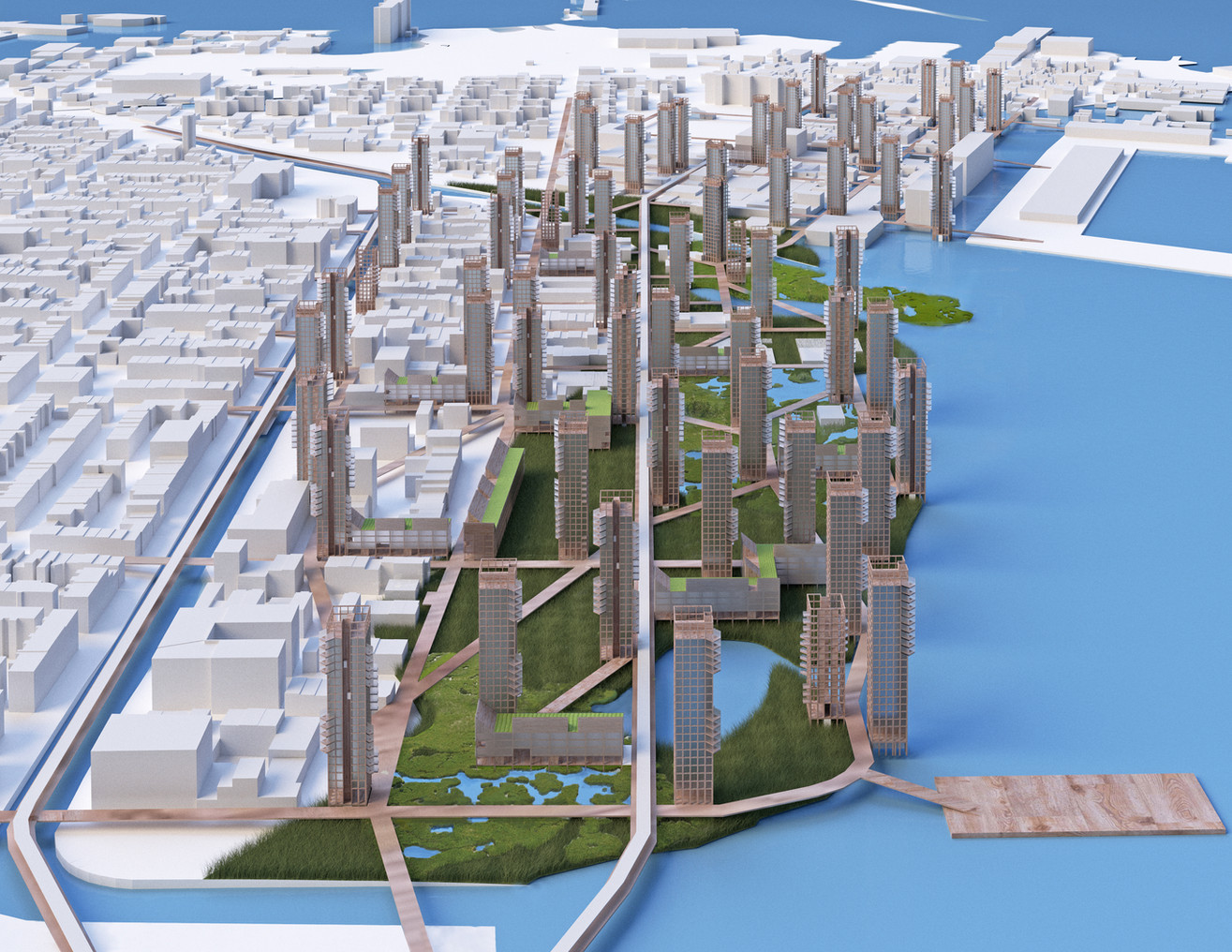 Engage sea level rise for positive urban transformation: symbiotic relation of city living and nature