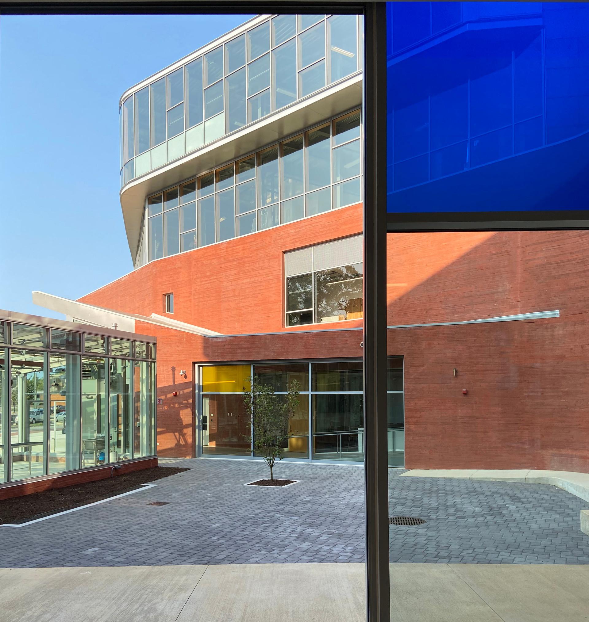 The Culinary School is organized in a two-storey 'U' around a social courtyard