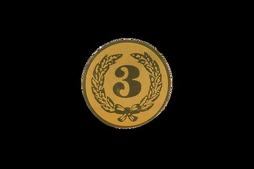 Disc Medalla Nombre 3 Ref. 37
