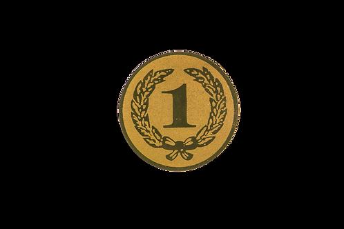 Disco Medalla Número 1 Ref. 35