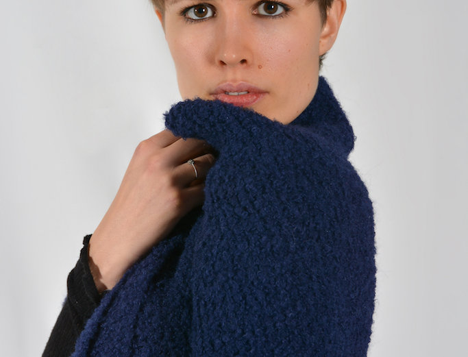 KNITTED SCARF LA INDIA MINI IN BLUE