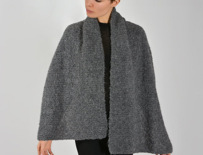 KNITTED SCARF LA INDIA MINI IN GREY
