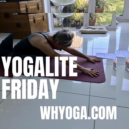 Live Streaming Lite Yoga Drop-in - Fri Morn 10-11am