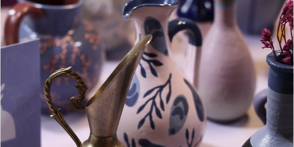 Atelier peinture sur vase