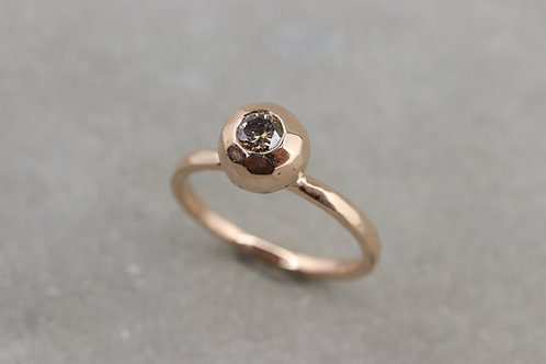 Ring brauner Brillant I Kollektion Bubble