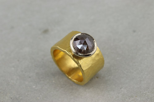 Ring Feingold mit Diamant I Unikat