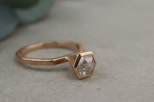 Ring Icy Diamond I Hexagon