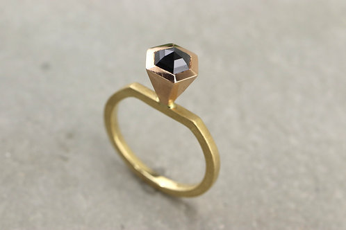 Ring Black Diamond I Hexagon