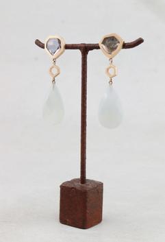 Diamant Ohrring Mondstein