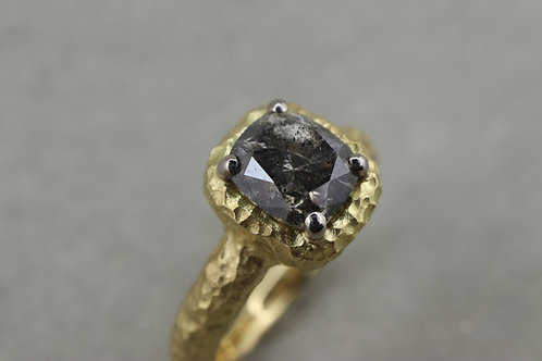 Ring Salt and Pepper Diamond I Unikat