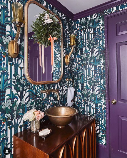 Photo by @laureywglenn, Wallpaper by Hermes, Image from Charlotte Lucas Design
