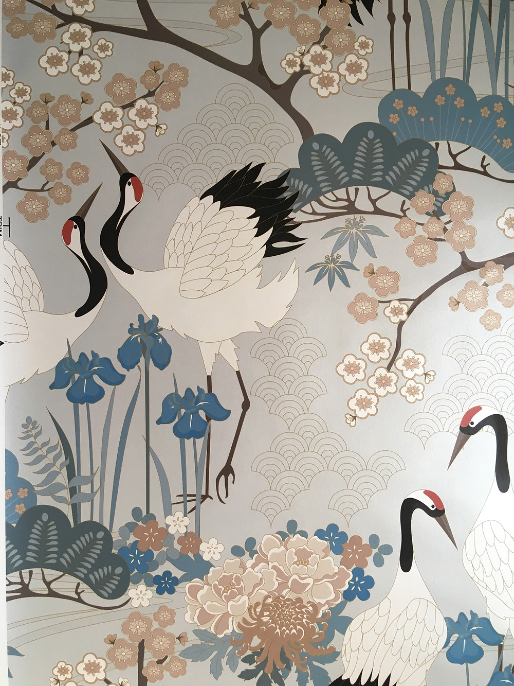 Japanese Garden in Gray Wallpaper from Judit Gueth Design in Toronto
