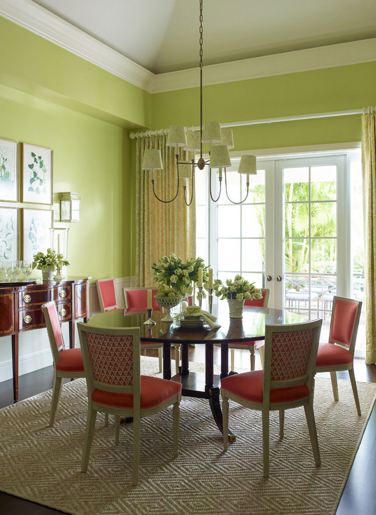 Coral and spring green is always a fresh colour combination! Image: Ashley Whittaker Design