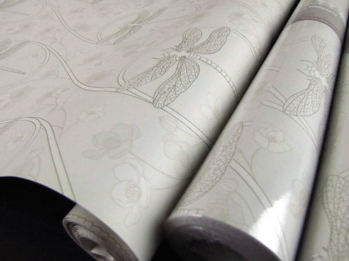 """Dragonfly Dusk 18"""" x 30' Prepasted SALE Nonwoven Wallpaper"""