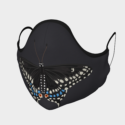 Face Mask with 2 Filters, Adjustable Steel Nose Wire - Swallowtail