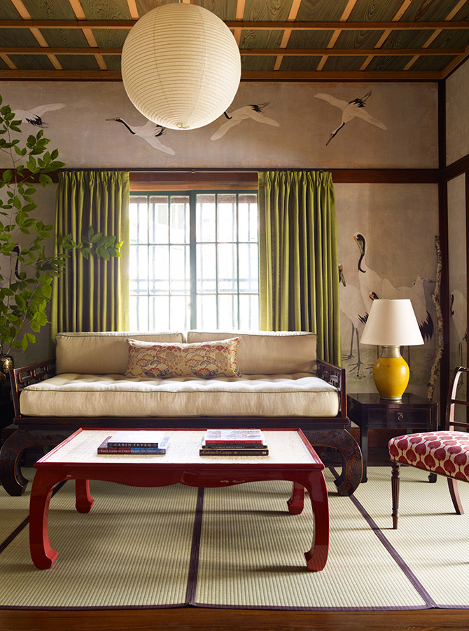I love Eastern influences in decor and I'm a huge sucker for cranes! Image: Katie Ridder www.katieridder.com