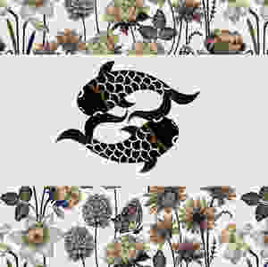 New Judit Gueth Design Logo over a spring pattern