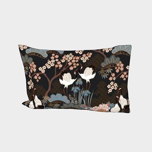 Pillow Sleeve RIGHT side - Cotton Sateen - Japanese Garden Charcoal