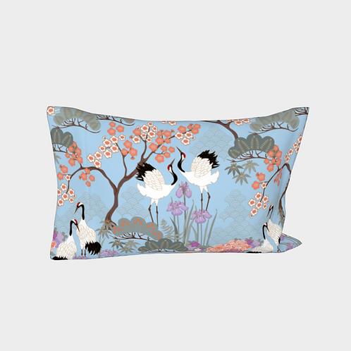 Pillow Sleeve LEFT side - Cotton Sateen - Japanese Garden Blue