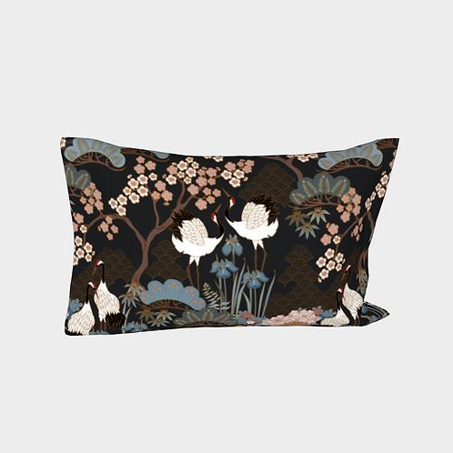 Pillow Sleeve LEFT side - Cotton Sateen - Japanese Garden Charcoal