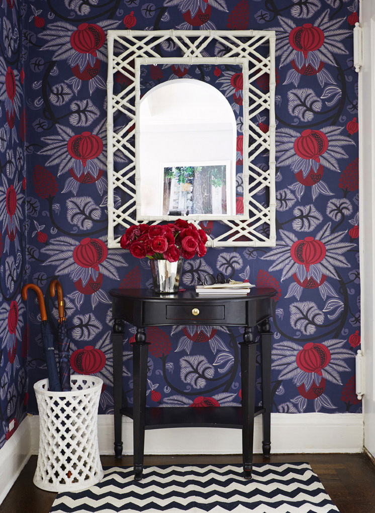 Gorgeous design with the Maharani wallpaper from Osborne & Little. Image: Ashley Whittaker Design