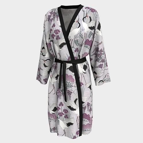 Snow Dance Purple Long Kimono Peignoir