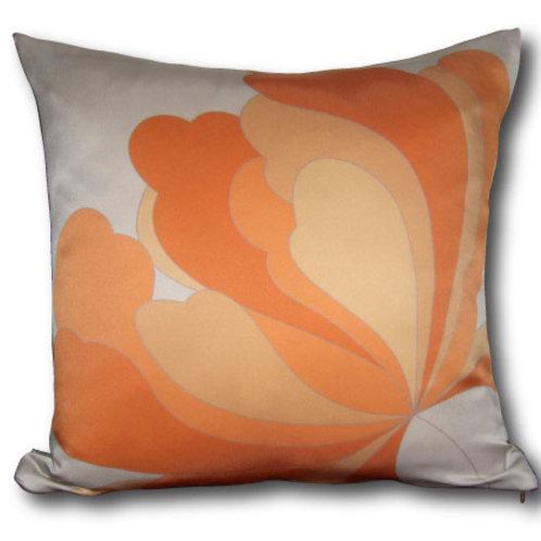 Petals Decorative 16x16 Digitally printed Silk Throw Cushion, buy at Judit Gueth Wallpaper, Rug and Textile Design in Toronto