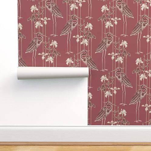 Heron Marsala Peel & Stick or Prepasted Wallpaper